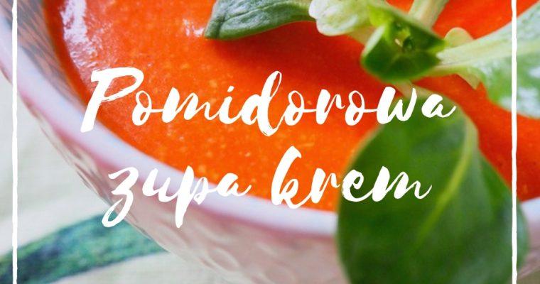 Pomidorowa zupa krem bez nabiału dla dzieci