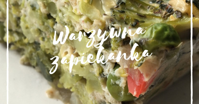 Warzywna zapiekanka z zielonym groszkiem i brokułem – przepis